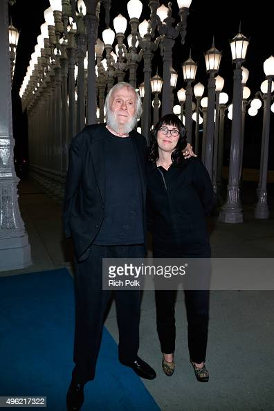 Artists John Baldessari and Meg Cranston attend LACMA 2015 ArtFilm Gala Honoring James Turrell and Alejandro G Iñárritu Presented by Gucci at LACMA...