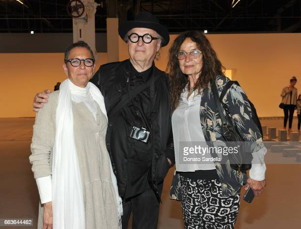 Artists John Van Hamersveld and Lita Albuquerque attend MOCA's Leadership Circle and Members' Opening of 'Carl Andre Sculpture as Place 19582010' and...