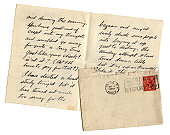 Artist's letter with blank envelope