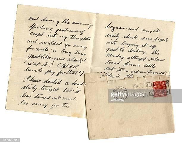 Artist's letter with blank envelope