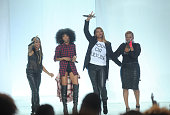 Artists MC Lyte Brandy Queen Latifah and YoYo perform onstage at the BET Hip Hop Awards 2014 at Boisfeuillet Jones Atlanta Civic Center on September...