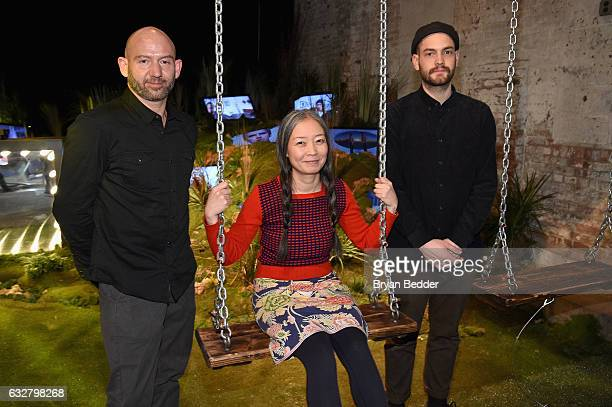 Artists Michael Murphy Kumi Yamashita and Clemens Behr attend the FX's Legion WhereHouse at Villian on January 26 2017 in Brooklyn New York