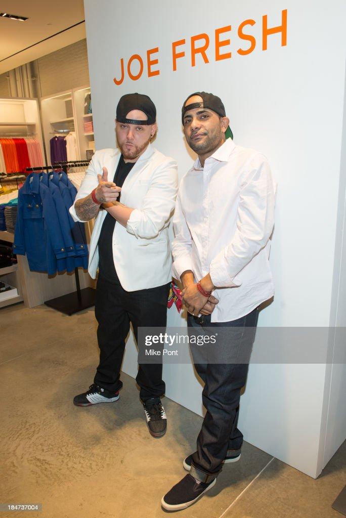 Artists Mike 2ESAE Baca and Fernando Ski Romero attend the Joe Fresh Soho opening party at Joe Fresh Soho on October 15 2013 in New York City