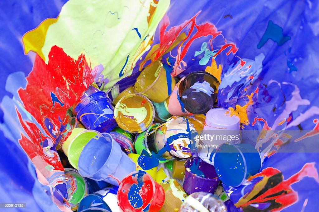 Artista multimedia mixtas de la basura : Foto de stock