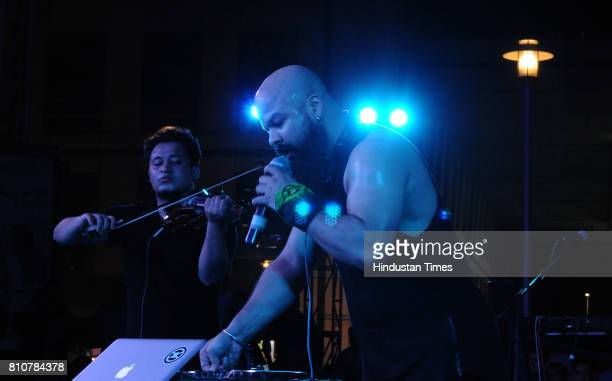 Artists of Banned Live Band performing during the Jam season4 in Cyber Hub organised by Hindustan Times on July 7 2017 in Gurgaon India