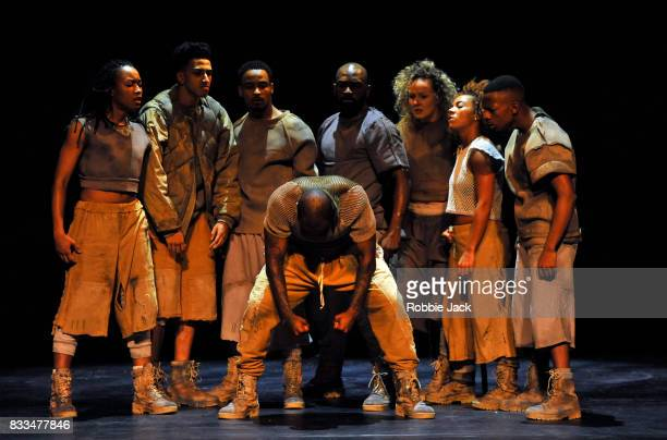 Artists of the company in Blue Boy Entertainment's production Blak Whyte Gray at Royal Lyceum Theatre on August 16 2017 in Edinburgh Scotland