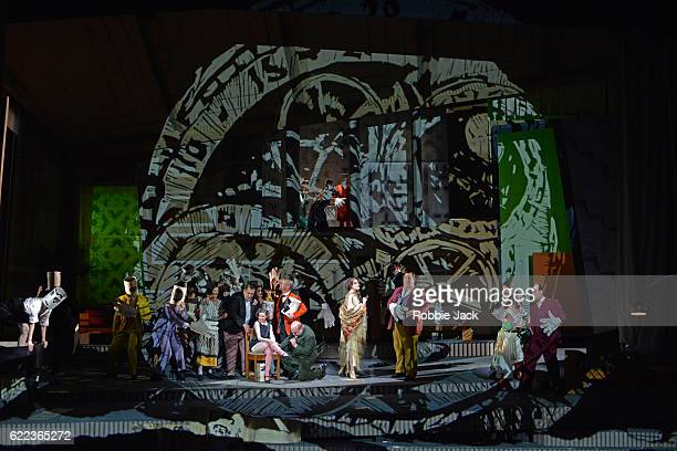 Artists of the company in English National Opera's production of Alban Berg's 'Lulu' directed and designed by William Kentridge and conducted by Mark...