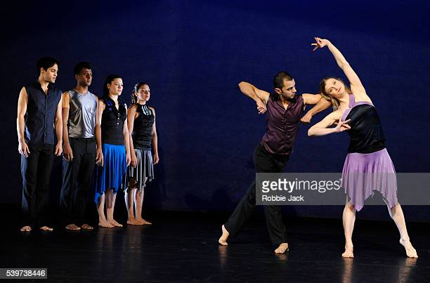 Artists of the company in Shobana Jeyasingh's 'Just Add Water' at the Linbury Theatre Royal Opera House Covent Garden in London