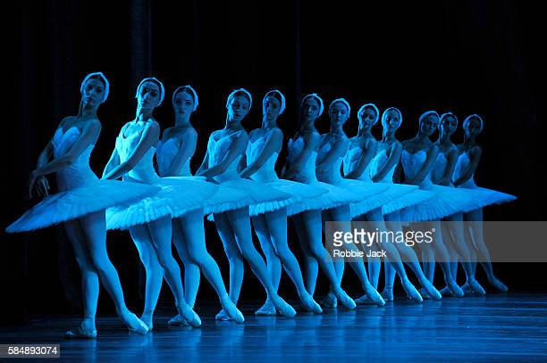 Artists of the company in the Bolshoi Ballet's production of Swan Lake choreographed by Yuri Grigorovich after Marius Petipa and Lev Ivanov at The...