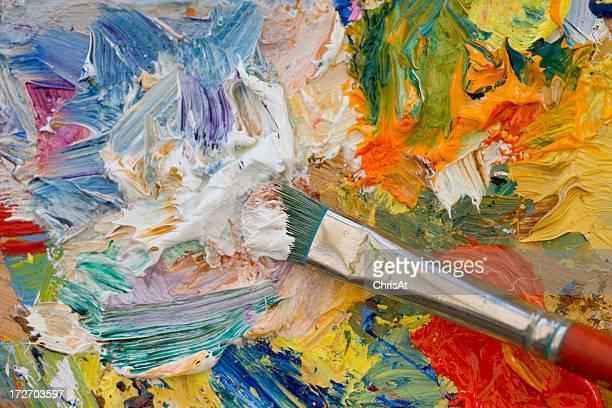 Künstler Ölmalerei Farbpalette