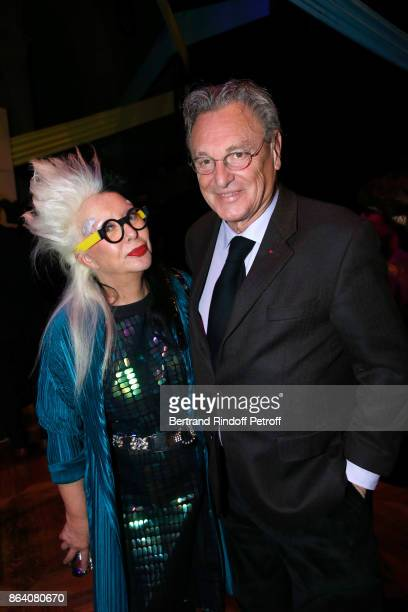 Artists Orlan and Gerard Garouste attend the 'Bal Jaune Elastique 2017' Dinner Party at Palais Brongniart during FIAC on October 20 2017 in Paris...