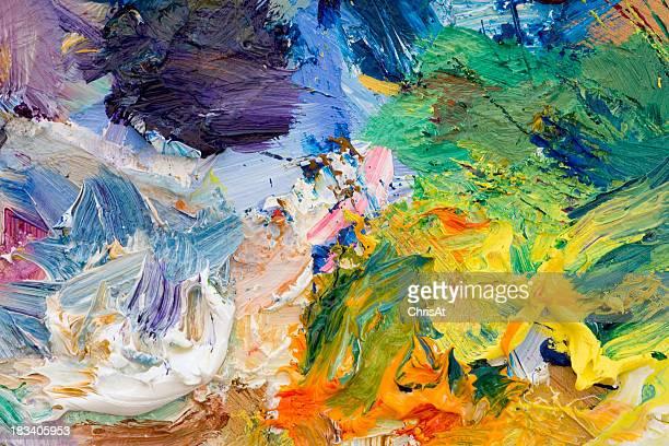 Artists paint palette