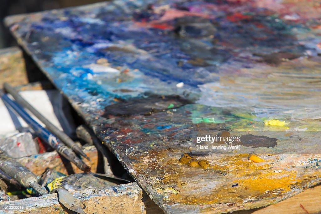 Artist's palette close up