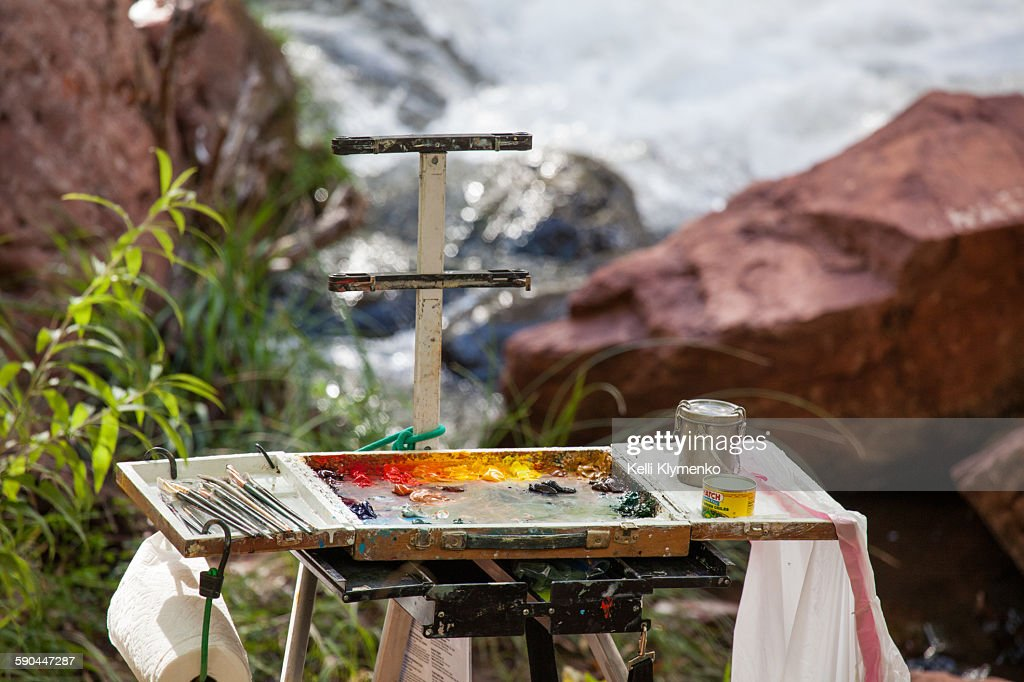 Artist's palette : Stock Photo