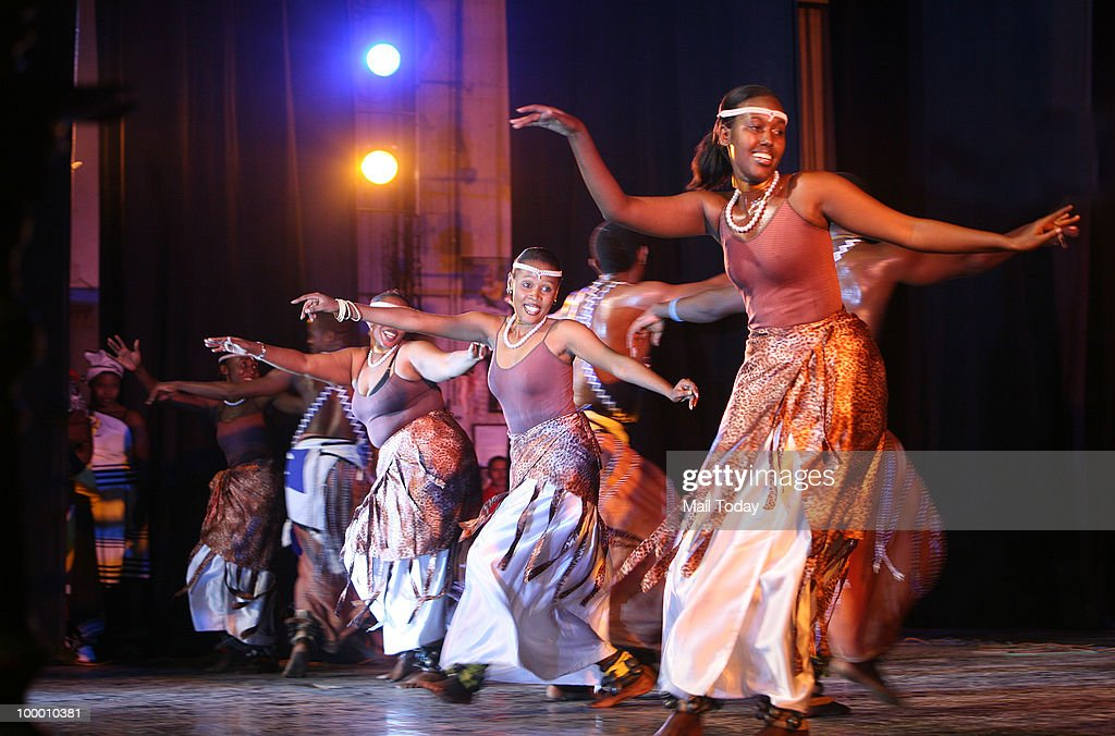 Artists perform during the African Festival, held by the Indian Council for Cultural relations, in New Delhi on May 19, 2010. The two-day festival that began on May 18 was a presentation of African music and dance, brought together five countries from the African continent-- as diverse as Tunisia and Malawi.