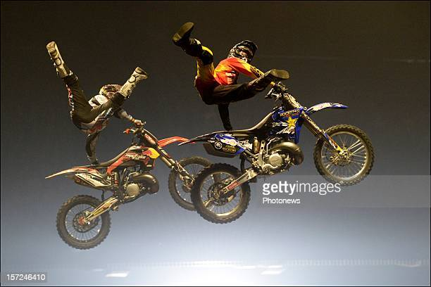 Artists perform during the Nitro Circus Live in the Sportpaleis of Antwerpen on November 30 2012 in Antwerp Belgium
