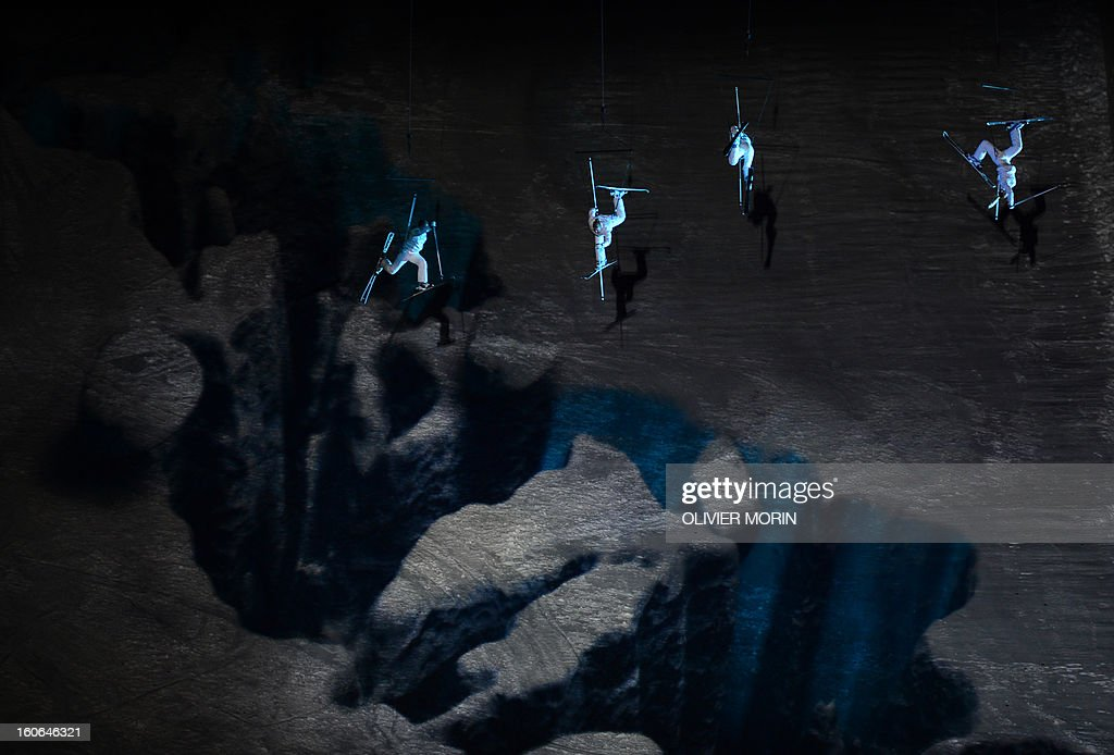 Artists perform during the opening ceremony of the FIS World Ski Championships on February 4, 2013 in Schladming.