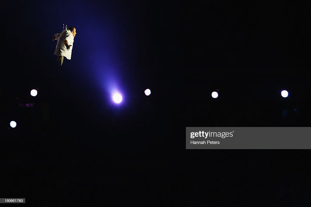 Artists perform during the Opening Ceremony of the London 2012 Paralympics at the Olympic Stadium on August 29, 2012 in London, England.