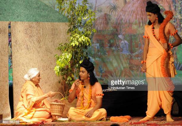 Artists perform the Ramlila narrating the life of Hindu God Rama on stage organised by Royal Youth Club at Jourian Bhattian on late night September...