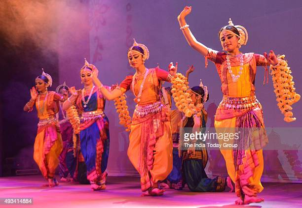 Artists performing dance drama on Ramayana at the Central Park in New Delhi