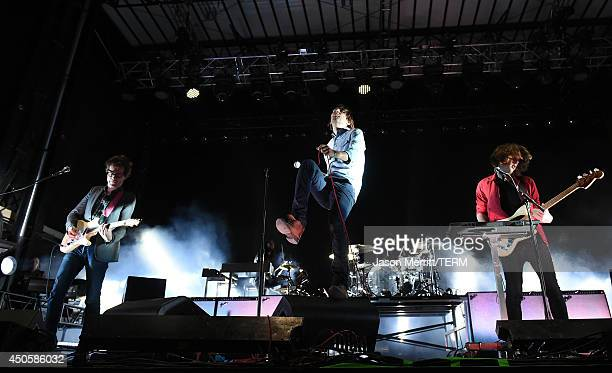 Artists Phoenix performs at the Bonnaroo Music Arts Festival on June 13 2014 in Manchester Tennessee