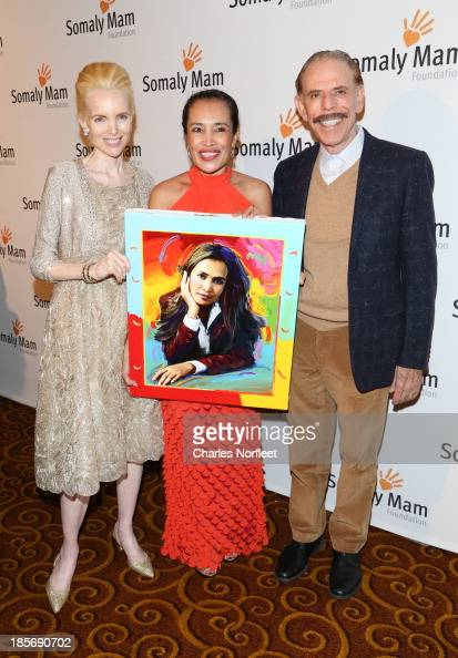 Artists/Activists Mary Max and Peter Max and Somaly Mam attend the 2013 Somaly Mam Foundation Gala at Gotham Hall on October 23 2013 in New York City
