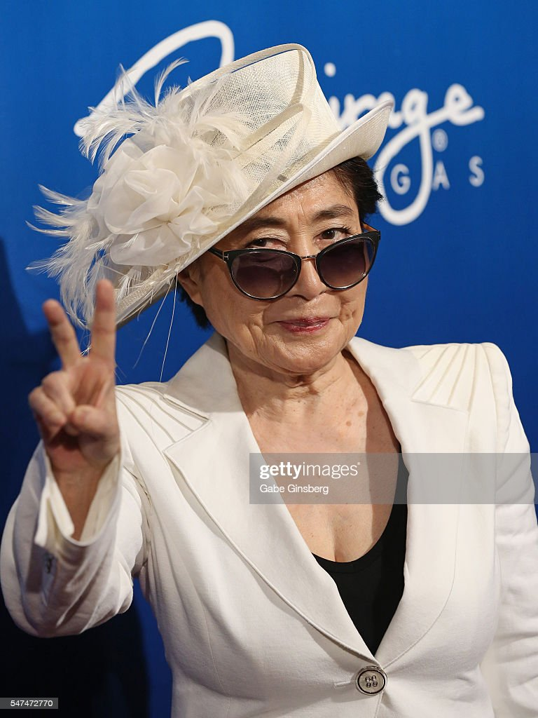 Artist/singer Yoko Ono attends the 10th anniversary celebration of 'The Beatles LOVE by Cirque du Soleil' at The Mirage Hotel & Casino on July 14, 2016 in Las Vegas, Nevada.