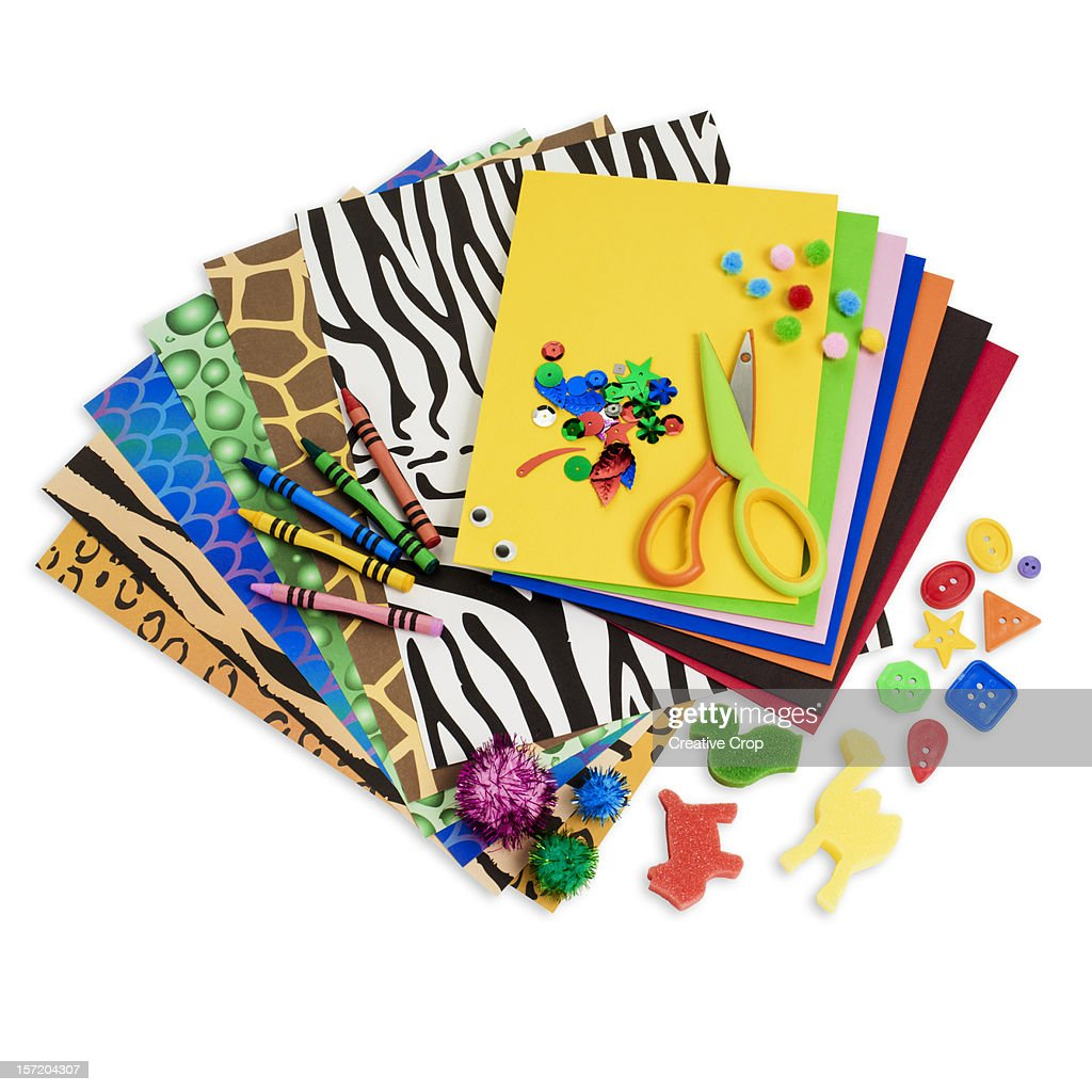 Arts and craft materials : Stock Photo
