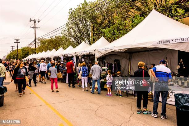 WACO, TX, USA  MARCH 18, 2017: Arts and Crafts tents on the street outside Magnolia Market at the Silos.