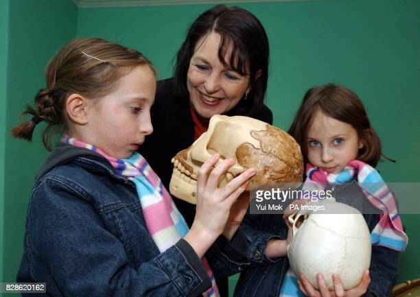 Arts Minister Baroness Blackstone's twin grand daughters Ruby and Amber both aged eightandahalf during their visit to Down House in Kent * to...