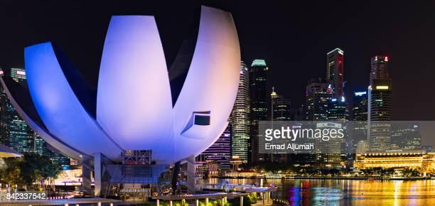 ArtScience Museum at Marina Bay Sands, Singapore - August 21, 2017
