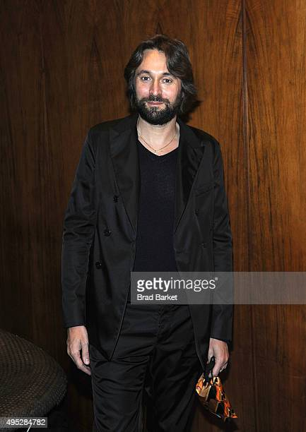 Artsit Francesco Vezzoli attends the opening night 'Fortuna Desperata' Opening Night at St Barts Cathedral on November 1 2015 in New York City