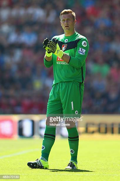 Artur Boruc of AFC Bournemouth during the Barclays Premier League match between Bournemouth and Aston Villa at the Vitality Stadium on August 8 2015...