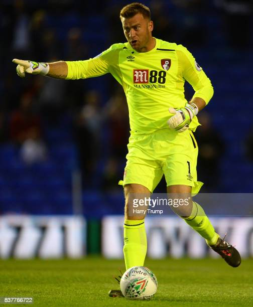 Artur Boruc of Bournemouth during the Carabao Cup Second Round match between Birmingham City and AFC Bournemouth at St Andrews Stadium on August 22...