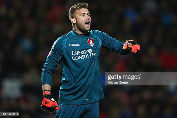 Artur Boruc of Bournemouth during the Sky Bet Championship match between AFC Bournemouth and Reading at Goldsands Stadium on October 21 2014 in...