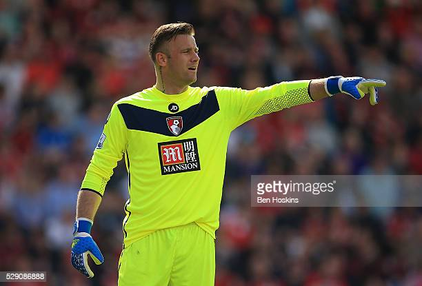 Artur Boruc of Bournemouth in action during the Barclays Premier League match between AFC Bournemouth and West Bromwich Albion at the Vitality...