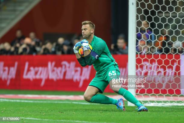 Artur Boruc of Poland during international friendly match between Poland and Uruguay at National Stadium on November 10 2017 in Warsaw Poland