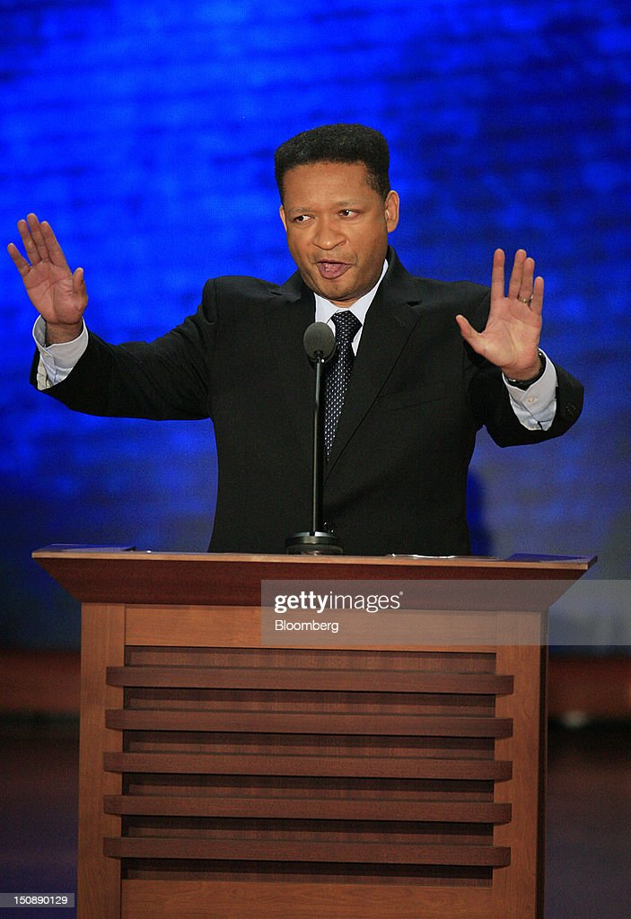 <a gi-track='captionPersonalityLinkClicked' href=/galleries/search?phrase=Artur+Davis&family=editorial&specificpeople=4177551 ng-click='$event.stopPropagation()'>Artur Davis</a>, former Representative of Alabama, speaks at the Republican National Convention (RNC) in Tampa, Florida, U.S., on Tuesday, Aug. 28, 2012. Delegates are gathered in Tampa at the 40th Republican National Convention to select former Massachusetts governor Mitt Romney as their nominee for the next president of the United States. Photographer: Scott Eells/Bloomberg via Getty Images