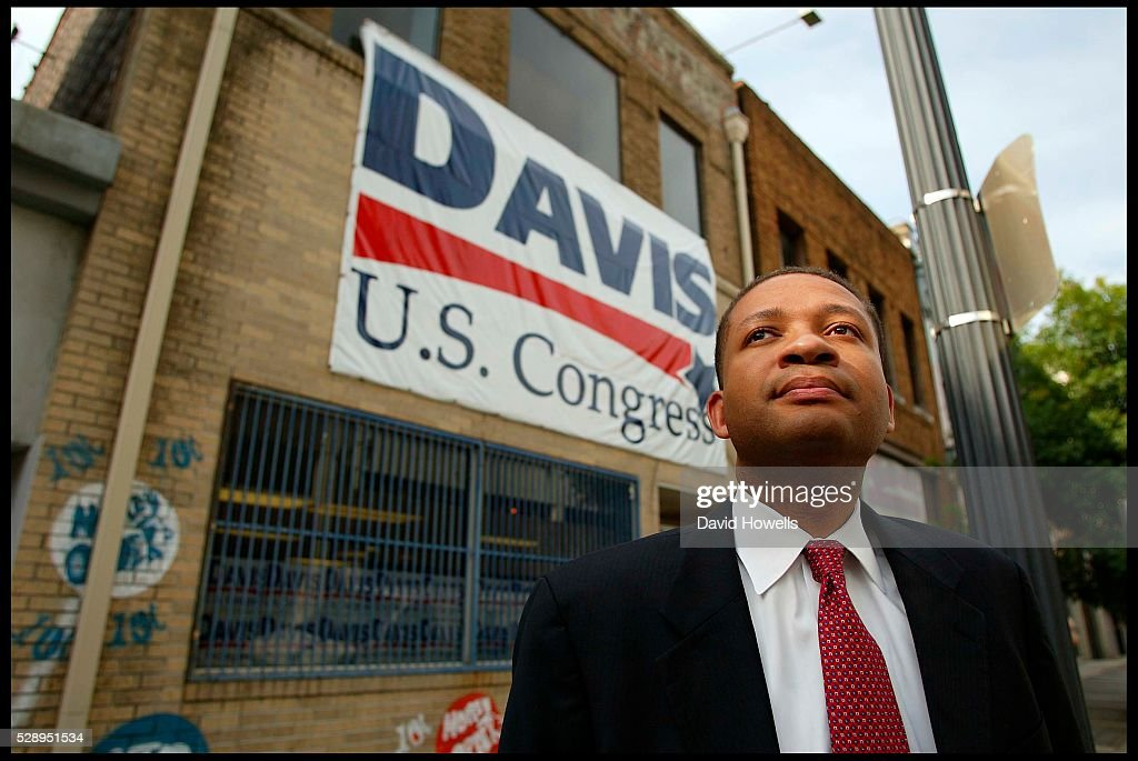 Artur Davis photographed in 2002 while campaigning for his congressional seat in Birmingham Alabama