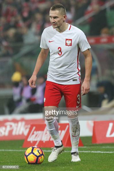 Artur Jedrzejczyk of Poland during the international friendly football match Poland vs Slovenia on November 14 2016 in Wroclaw