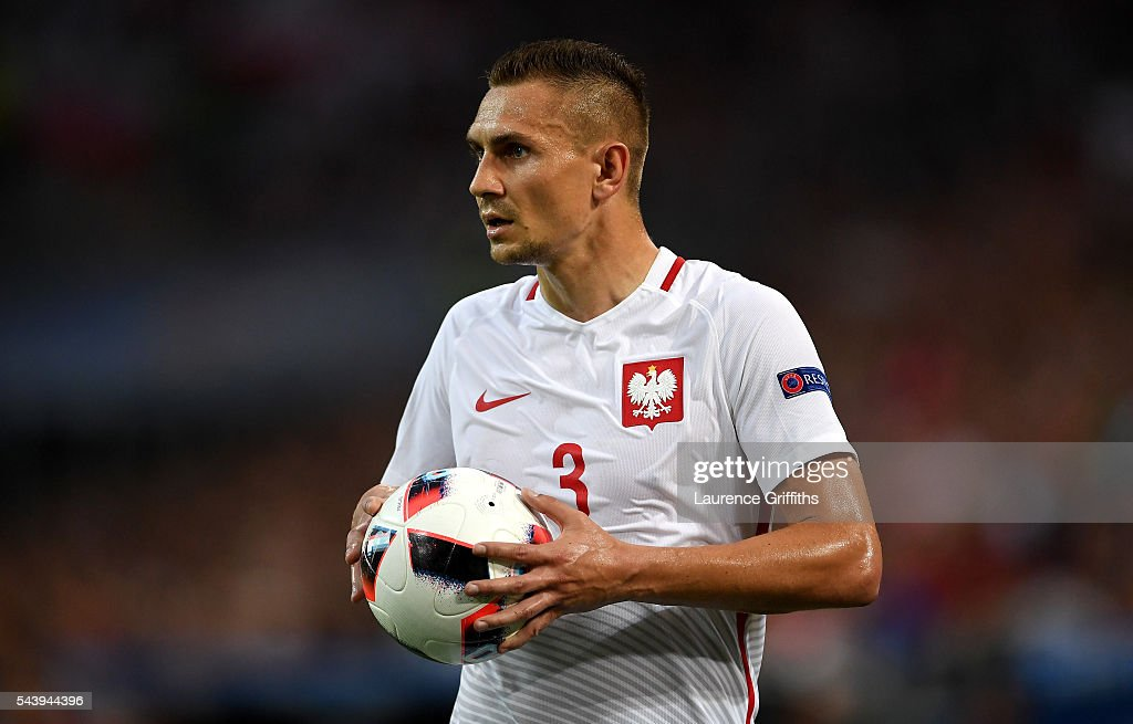 Artur Jedrzejczyk of Poland in action during the UEFA EURO 2016 quarter final match between Poland and Portugal at Stade Velodrome on June 30, 2016 in Marseille, France.
