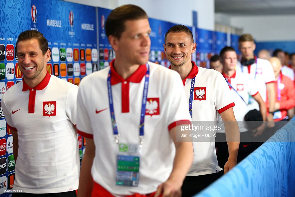 Artur Jedrzejczyk of Poland is seen on arrival at the stadium prior to the UEFA EURO 2016 quarter final match between Poland and Portugal at Stade Velodrome on June 30, 2016 in Marseille, France.