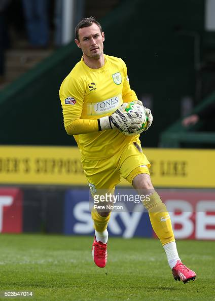 Artur Krysiak of Yeovil Town in action during the Sky Bet League Two match between Yeovil Town and Northampton Town at Huish Park on April 23 2016 in...