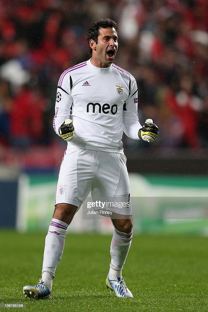 Artur of Benfica celebrates his teams first goal during the UEFA Champions League, Group G match between SL Benfica and Celtic FC at Estadio da Luz on November 20, 2012 in Lisbon, Portugal.
