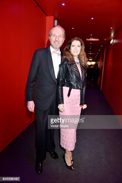 Arturo Artom and Alessandra Repini arrive at the Lampoon AristoFunk Party during Milan Fashion Week Fall/Winter 2017/18 on February 25 2017 in Milan...