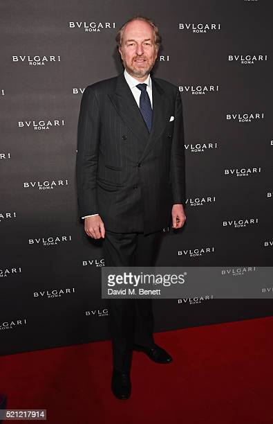Arturo Artom arrives at the Bulgari flagship store reopening on New Bond Street on April 14 2016 in London England