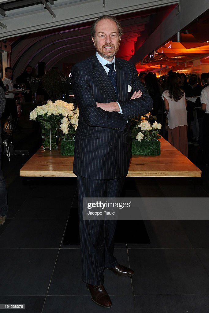 Arturo Artom attends Lacoste 80th Anniversary cocktail party at La Rinascente on March 21, 2013 in Milan, Italy.