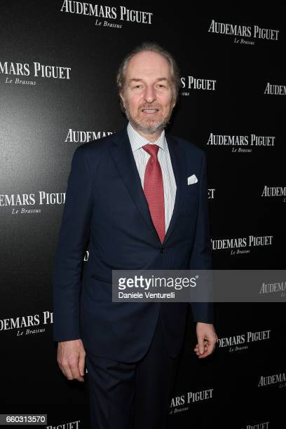 Arturo Artom attends The Art Projects By Audemars Piguet Presentation on March 29 2017 in Milan Italy