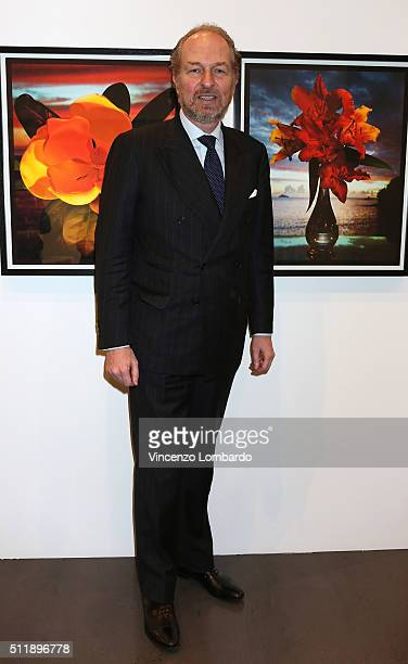 Arturo Artom attends the 'Fiori' by Gian Paolo Barbieri book and exhibition presentation on February 23 2016 in Milan Italy