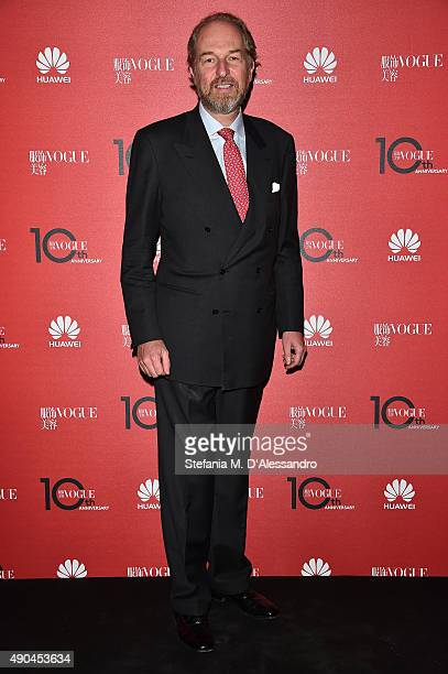 Arturo Artom attends Vogue China 10th Anniversary at Palazzo Reale on September 28 2015 in Milan Italy